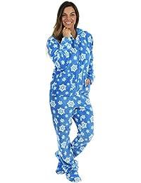 Women's Fleece Onesie Hooded Footed Pajamas