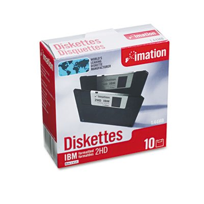 "Imation - 3-1/2"" Diskettes, Formatted, PC Format, 1.44MB, DS-HD"