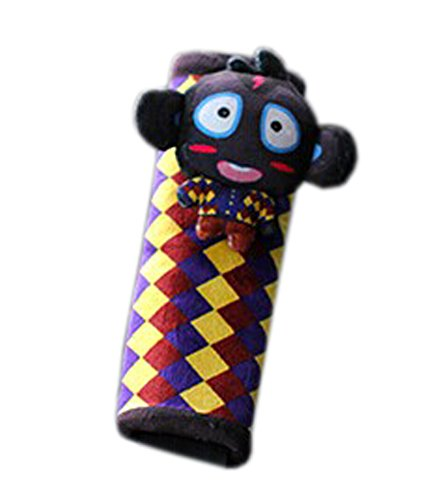 Creative Safe Car Soft Seat Belt Strap Cover, Lovely Catoon Monkey, Black