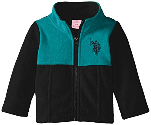 U.S. Polo Assn. Baby Girls' Mock-Neck Color-Block Polar Fleece Jacket