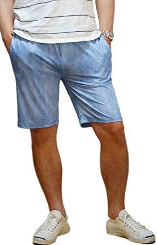 ショートパンツ メンズ ラッシュガード素材 ストレッチ ウェストゴム ハーフパンツ デニムプリント 短パン 半ズボン ショーツ
