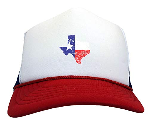 Texas State Map - USA Southern Pride Two Tone Trucker Hat (Red/White/Blue)]()