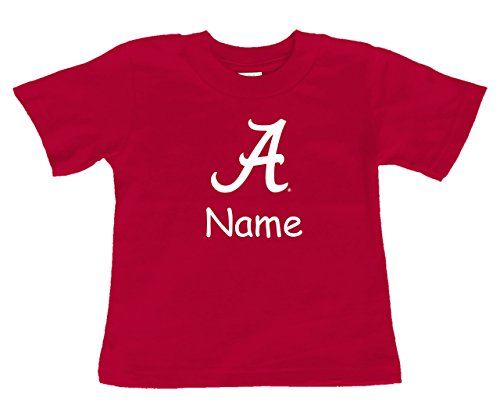 Future Tailgater Alabama Crimson Tide Personalized Color Baby/Toddler T-Shirt (18 Months)