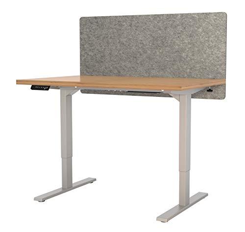 "VaRoom Acoustic Partition, Sound Absorbing Desk Divider – 48"" W x 24""H Privacy Desk Mounted Cubicle Panel, Ash Grey by VaRoom (Image #1)"