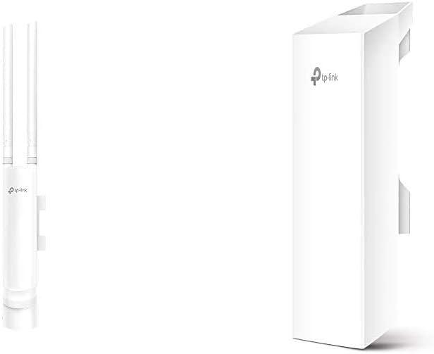 TP-Link EAP110-Outdoor Punto de Acceso (inalámbrico, para Exteriores, Resistente al Agua, Ideal para Wi-Fi de jardín) + CPE210 CPE de Exterior de 9dBi en 2.4GHz a 300Mbps