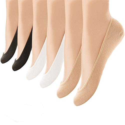 Extreme Booty Shorts (6 Pairs No Show Socks Women No Show Liner Socks Womens No Show Socks Non Slip Thin Low Cut Casual Socks (One)