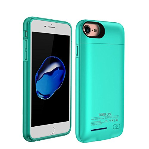 REDGO 4200mAh Magnetic Battery Case iPhone 7 Plus,iPhone 8 Plus, iPhone 6 Plus, 6s Plus Power Bank Case Super Slim Charging Case Portable Wireless Jucie Pack Charger Case 4 Led Indicator Lights, Teal