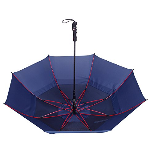 Golf Umbrella by Repel with Triple Layered Reinforced Fiberglass Ribs  Adorned in Red Paint, 60