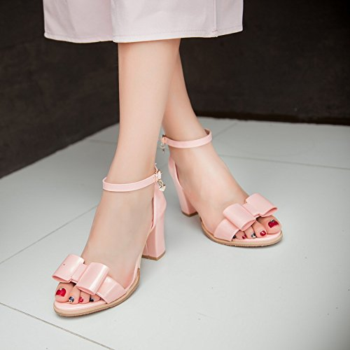 la la cheville La de talons de chaussures ouvert boucle sandales bouche ouvert ZHZNVX été version à à bout pour peu avec coréenne Silver la épais profonde femmes Nouvelles B6Cv6xwqU