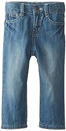 Lee Baby Boys\' Lee Slim Straight Jean, Bleach Blue, 18 Months