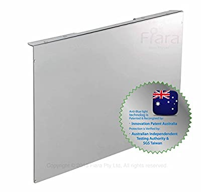 """Fiara Anti-blue Light Screen Filter - 19"""" inch (Fits to most 19""""inch LED/LCD Desktop Monitors W440 x H290 x D45mm; Filter Thickness 2.0mm); PROVEN to protect your precious vision by INNOVATION PATENT AUSTRALIA & Certified by Australian Independent Test Au"""
