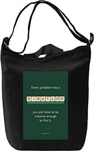 Solution Borsa Giornaliera Canvas Canvas Day Bag| 100% Premium Cotton Canvas| DTG Printing|
