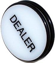 Trademark Poker Dealer Puck Button, White, 3-Inch