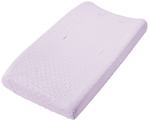 Rumble Tuff  Minky Dot Changing Pad Cover, Lavender,Standard