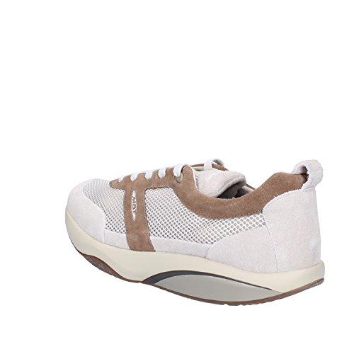 MBT Sneakers Homme 46 EU Blanc / Marron Textile / Daim