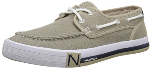 Nautica Deck Shoes - Nautica Men's Spinnaker Boat Shoe, Washed Burlap, 9.5 M US