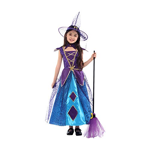 Yaxuan Horror Spellbound Witch Costume Girls' Halloween/Carnival / Children's Day Festival/Holiday Halloween -