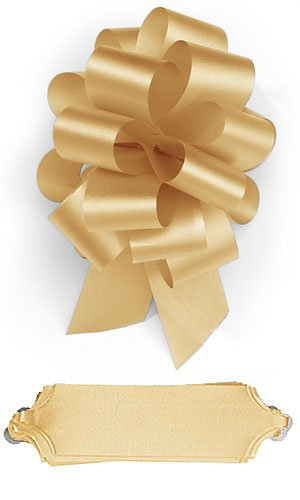 10 Gold Pull 5.5 Inch Diameter Bow 20 Loops Wrapping Wrap Ribbon Easy Make Bows