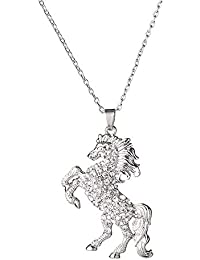 Charms Enamel Rainbow Horse Pendant Necklace/and Necklace with Earrings Jewelry Sets for Girls
