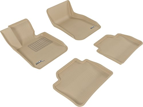 3D MAXpider Complete Set Custom Fit All-Weather Floor Mat for Select BMW 3 Series Sedan (F30) Models - Kagu Rubber (tan) ()