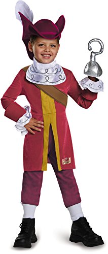 Disguise 85599S Captain Hook Deluxe Costume, Small (2T) (Captain Hook Costumes For Kids)