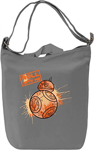Roll With Me Borsa Giornaliera Canvas Canvas Day Bag| 100% Premium Cotton Canvas| DTG Printing|