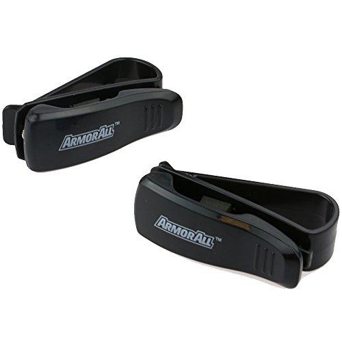 Armor All AMH3-0110-BLK Sunglass Visor Clip, 2 Pack