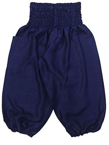 Lofbaz Baby Solid Hippy Gphsy Child Pirate Pants Thai Bohemian Dark Blue Size -