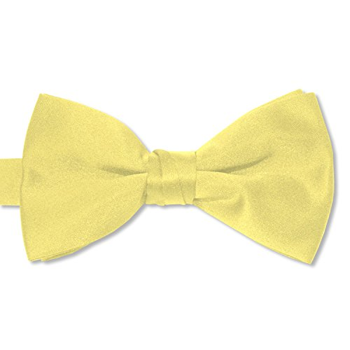 Satin Bow Ties (Boys, Canary Yellow)
