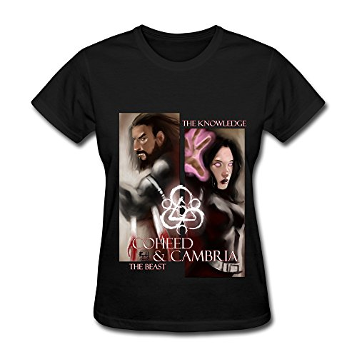 Hot Sale Alternative Rock Band Coheed And Cambria T Shirt For Women Black ()