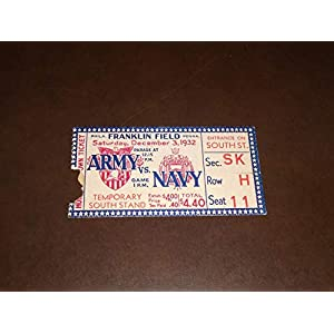 1932 ARMY NAVY COLLEGE FOOTBALL TICKET STUB