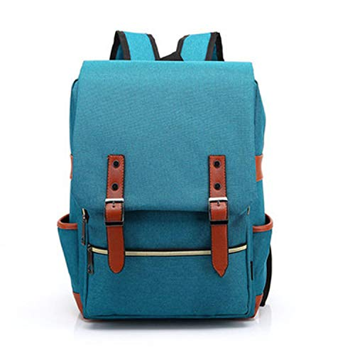 Fashion Vintage Laptop Backpack Women Canvas Men Travel Leisure Retro Casual School Bags For Teenager,Green ()