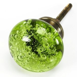Bubble Glass Cabinet Knobs, Kitchen Drawer Pulls & Handles Set/2pc ...
