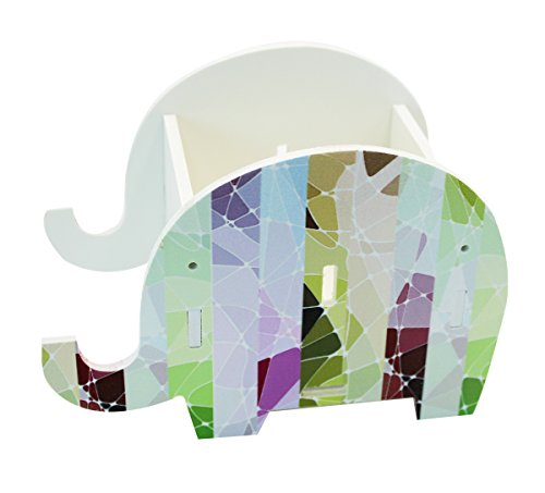 Cute Elephant Pen Pencil Comestic Stationery Holder Cell Phone Stand Multifunctional Storage Box Business (Decorative Business Card Holders)