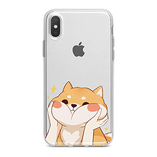 Lex Altern Case for iPhone X 8 Plus 7 6s 6 SE 5s 5 TPU Clear Kawaii Apple Cute Phone Shiba Inu Cover Adorable Print Protective Light Weight Doggy Women Soft Silicone Transparent Flexible Teen Girls -