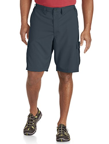 LEE Men's Big and Tall Performance Cargo Short, Blue Steel, 46 (Cell Pocket Khaki Shorts Phone)
