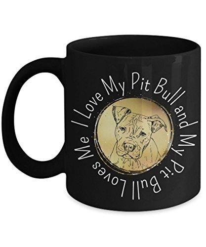Cute Black Pit Bull Mug - 11oz Pit Bull Cup - Pit Bull Gifts - Pit Bull Coffee Mug