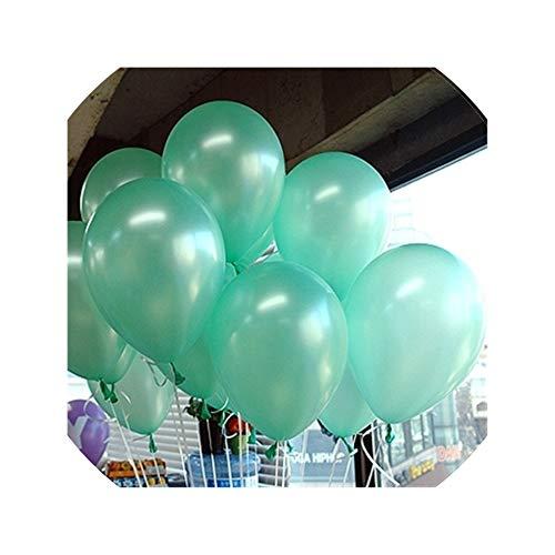 10Pcs 10Inch 2.2G Latex Balloons Children Party Decoration Wedding Balloons Marriage Birthday Helium Air Balls Boy Toy,A17 Lake Blue Round,2.2G]()