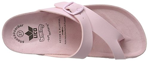 Lico rosa Femme Rose Chaussons Uni Bioline 7TYw7a