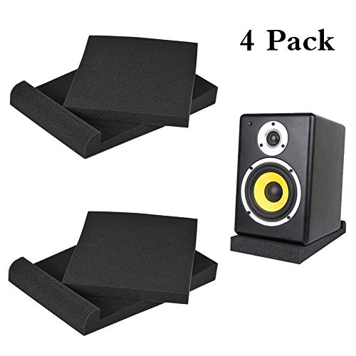 Acoustics Studio Monitor Isolation Pads Reduce Vibrations and Fits Most Speaker Stands (10.65 x 13 x 1.8 inches)