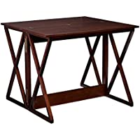Southern Enterprises Derby Convertible Console Dining Counter Table 37, Espresso Finish