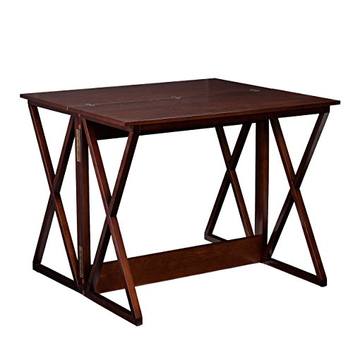 "Southern Enterprises Derby Convertible Console Dining Counter Table 37"", Espresso Finish"