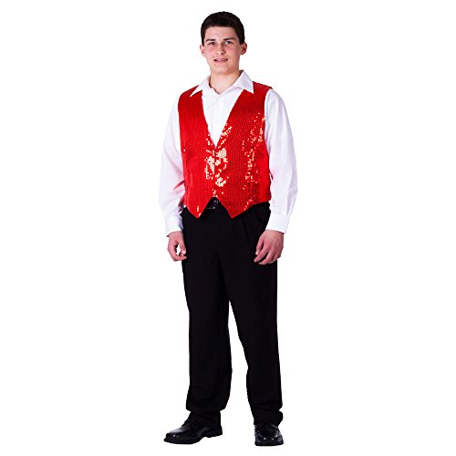 (Dress Up America Adult Red Sequin Vest - Size Extra)