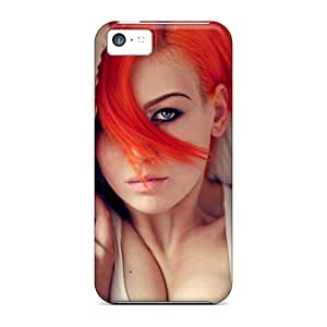 Ultra Slim Fit Hard Favorcase Cases Covers Specially Made For Iphone 5c- Redhead Girl