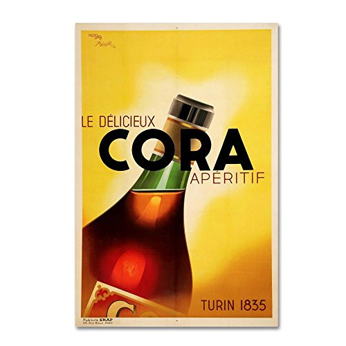 47 Aperitif - Trademark Fine Art 1934 Made In Italy by Vintage Lavoie, 30x47-Inch Canvas Wall Art
