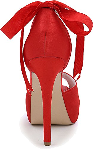 5 36 Red Rouge Femme Plateforme Nice Find nqFHUwYgP