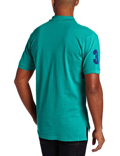 U.S. Polo Assn. Men's Solid with Big Pony, Pool Green, Large