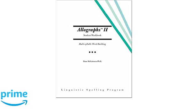 Amazon.com: Allographs™ II Student Workbook: Linguistic ...