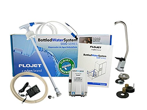 FloJet BW5000 Bottled Water System PLUS Chrome Long Reach FAUCET KIT