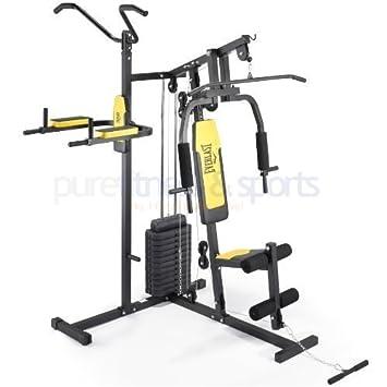 everlast home multi gym grey yellow amazon co uk sports outdoors rh amazon co uk Everlast One Gym Manual Everlast Gym Bags